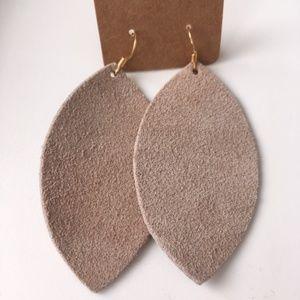 NWOT Stone Suede Earrings